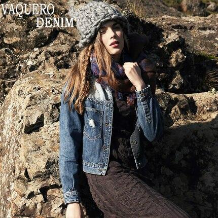 2015 New Autumn Winter Long Sleeve Denim Fashion Slim Patchwork Denim Jackets Classical Outwear font b