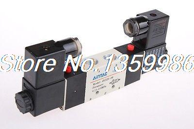 10 pcs 4V220-08 DC 12V Solenoid Air Valve 5port 2position 1pcs 4v110 06 ac220v lamp solenoid air valve 5port 2position bsp