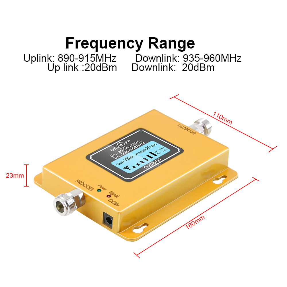 Image 2 - LCD display GSM 900Mhz UMTS 2G/3Gcelular MOBILE PHONE Signal  Repeater booster,900MHz amplifier   Yagi /Ceiling AntennaSignal  Boosters