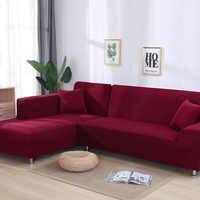 Cor cinza apertado envoltório sofá capa elástica precisa pedir 2 peças capa de sofá se l-estilo secional sofá de canto capa de sofá
