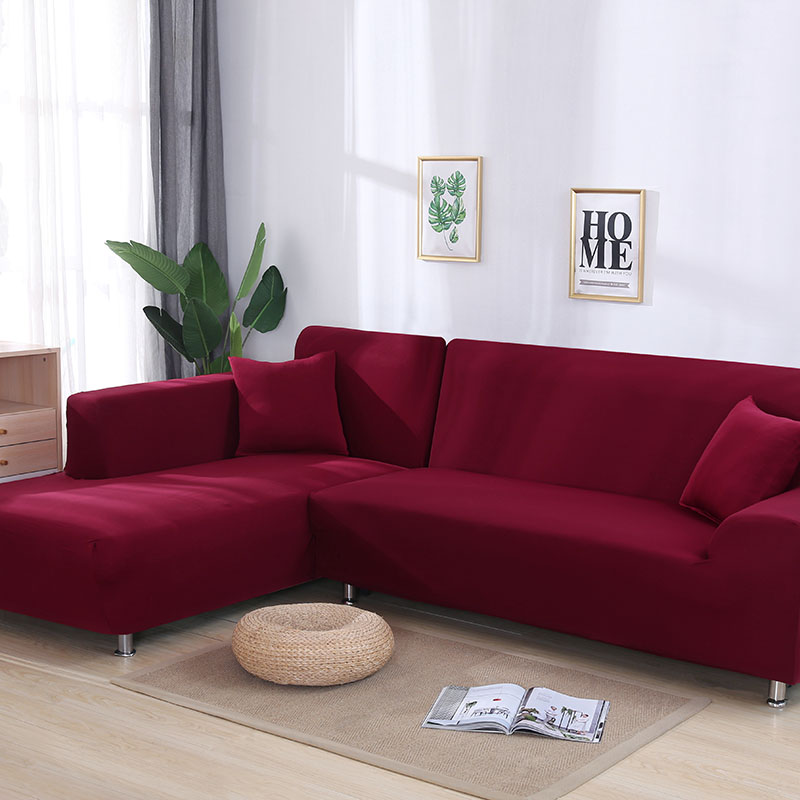 Grau Farbe Engen Wrap Sofa Abdeckung Elastische Muss Um 2 Stück Sofa Abdeckung Wenn L-stil Schnitts Ecke Sofa capa de sofa