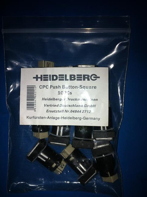 10 pieces heidelberg printing machine cpc button computer tuhung keysters 81.186.3855/02