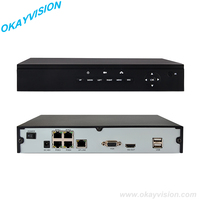 FULL HD 4CH P2P POE NVR Manufacturer Real Time Recording 4CH Support POE ONVIF NVR H