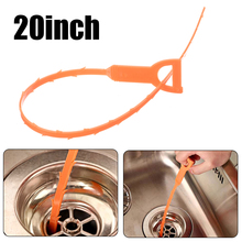 1pc Toilet Drain Cleaning Hook Reusable Unclog Sink Tub Scourer Hair Removal Cleaner Home Tools