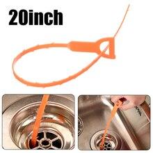 1pc 화장실 드레인 청소 후크 재사용 가능한 Unclog 싱크 욕조 Scourer 제모 클리너 홈 도구
