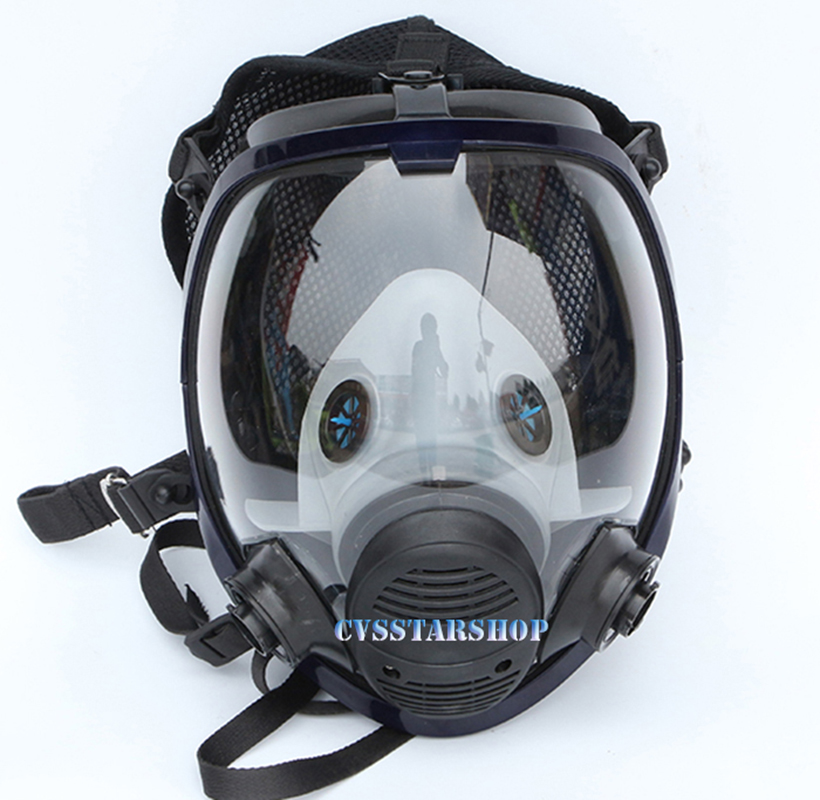 Image 2 - 17 in 1 Suit Painting Spraying Chemcial Respirator Same For 3M 6800 Gas Mask Full Face Facepiece Respirator-in Chemical Respirators from Security & Protection
