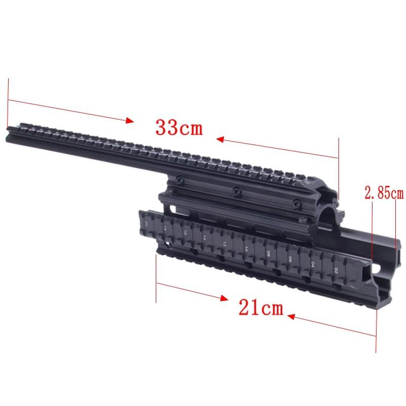 Saiga 12 Shotgun Tactical Quad Rail A través del alcance Montaje de - Caza - foto 4