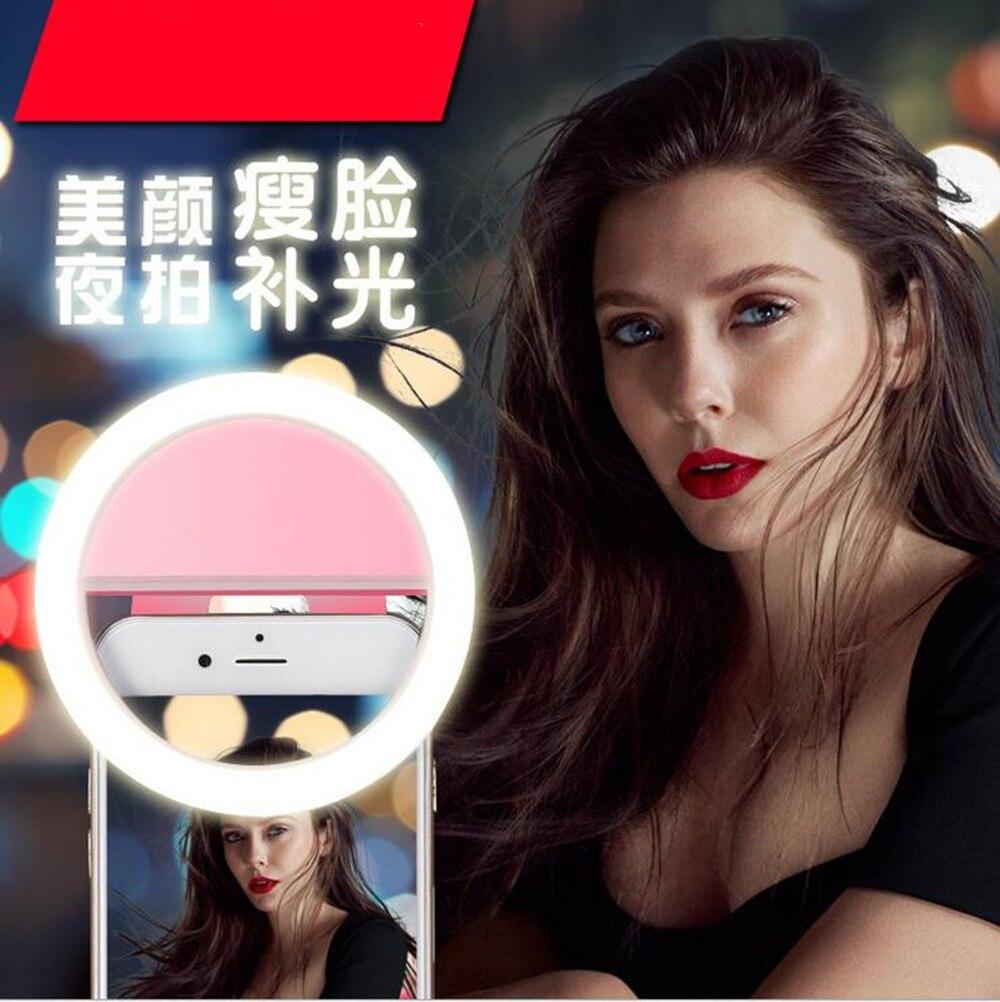 Мобильный светодиодный селфи кольцо крышки для Android-смартфон флэш-световой чехол iPhone 5 5C 5S 6 6S 7 плюс LG Samsung S8 <font><b>S7</b></font> край