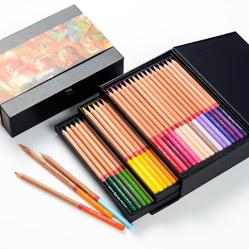 Marco Art Renoa série art design huile couleur crayon 48 couleur crayon collection version carton emballage A3100