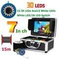 7 Inch Monitor 15M 1000TVL Fish Finder Underwater Fishing Video Camera 30pcs LEDs Waterproof Fish Finder CMOS Sensor