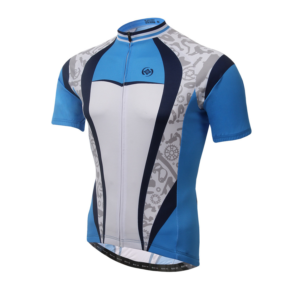 XINTOWN Blueprint Riders Tops Summer Bike Short Sleeve Riding Suits Drying Jersey Rompers sport thermal underwear