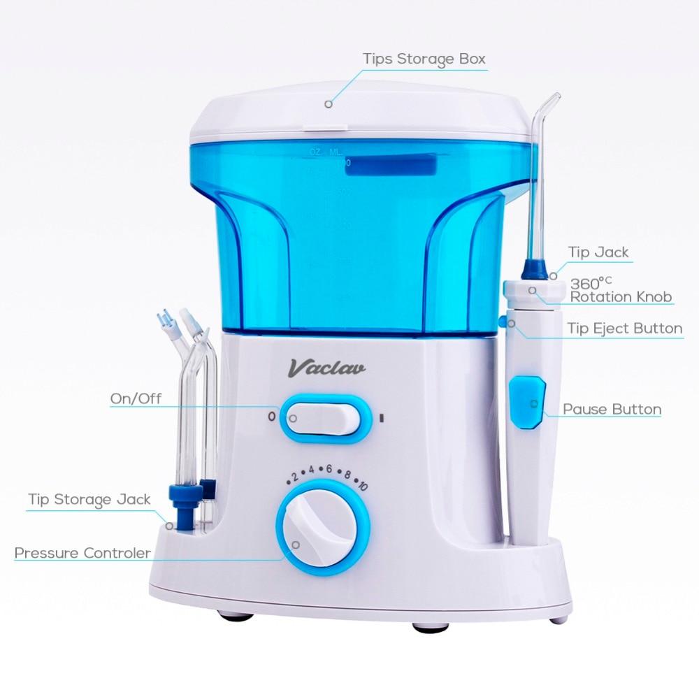 Vaclav Dental Flosser Irrigador Oral Agua Flosser Hilo Dental Irrigador Oral Dental Floss Agua Recogida de Agua Portátil Riego - 4