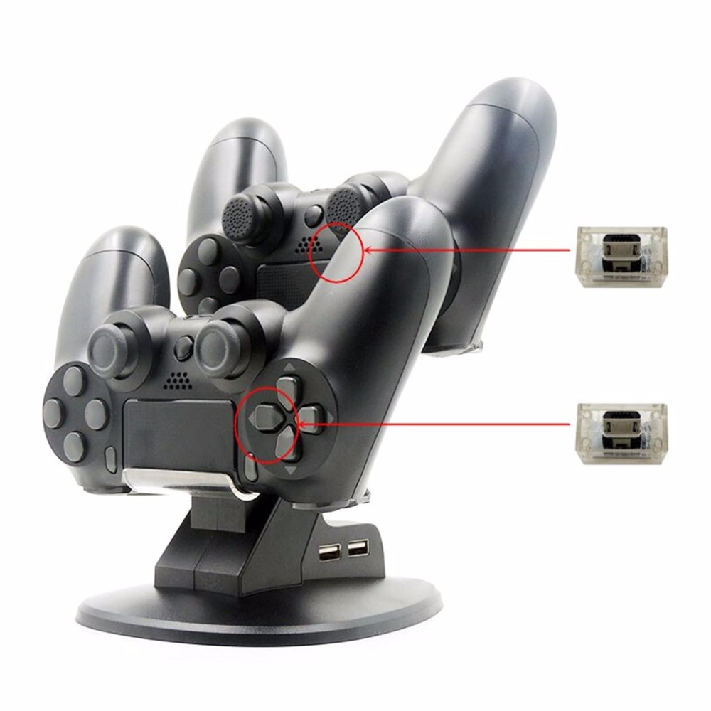 Dual USB For PSP Charging Dock Controller Charging Stand Docking Charger Cradle Stand for Sony Playstation 4 PS4 Game Controller ...