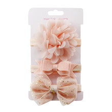 3Pcs Elastic flower Headbands
