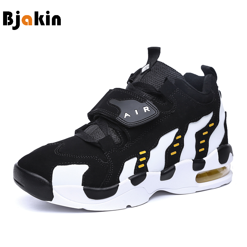 Bjakin 2017 Basketball Shoes Men Air Sole Women Basketball Sneakers Breathable Comfortable Outdoor Indoor Basketball Footwear