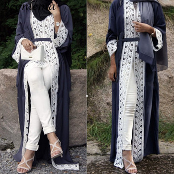c9067fbf4 Beonlema musulmanas abierta montó negro abierto Abaya turco de larga túnica  vestido para damas Musulam ropa Plus tamaño caftán
