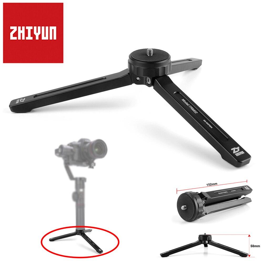 Zhiyun aluminio Mini Mesa trípode Monopod 1/4 tornillo para la grúa de Zhiyun 2/grúa V2/suave 4/Smooth Q estabilizador