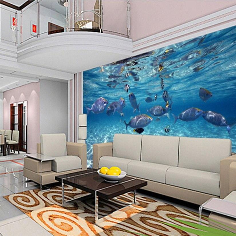 3D Wallpaper Cartoon Kreative Submarine Welt Marine Life Kids ...