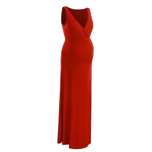 Maternity Clothes   Long Bohemian Dress 4
