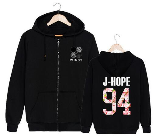Kpop BTS Bangtan men women Suga female male zip character Pullover Hoodies Clothes Print fleece hooded Sweatshirts Concert shirt