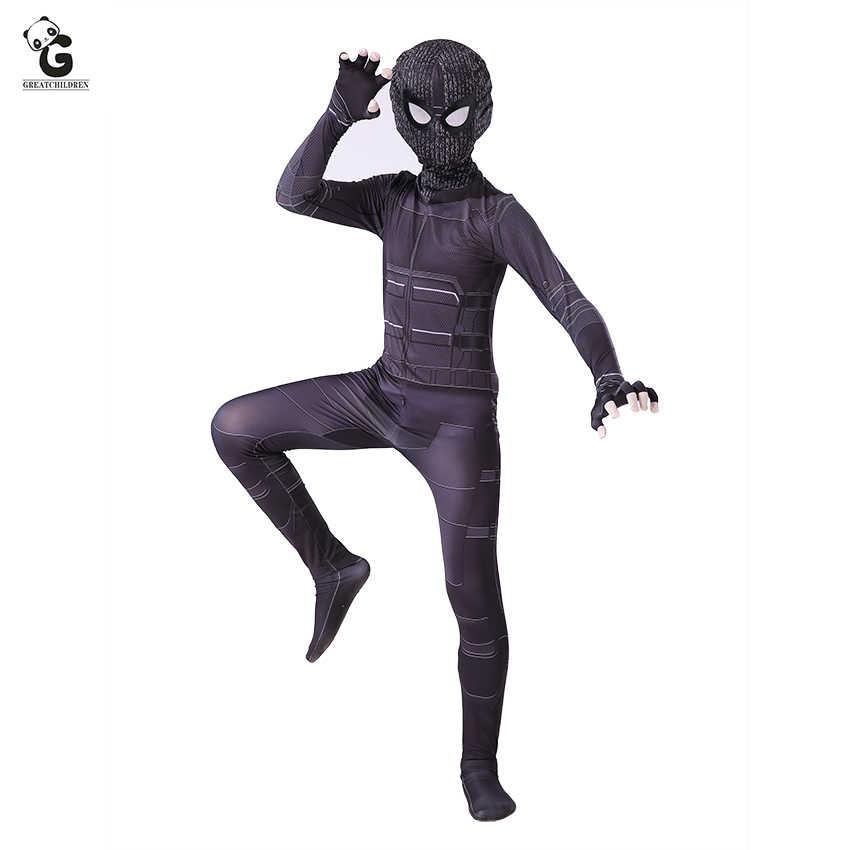 Spider Man Far From Home Costume Boys Spider Man Jumpsuits Halloween Costume For Kids Superhero Zentai Spiderman Bodysuit Boys Aliexpress