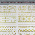 1 sheet/lot  Big Size 3d Design lace gold wave retro hollow out totem Nail Stickers