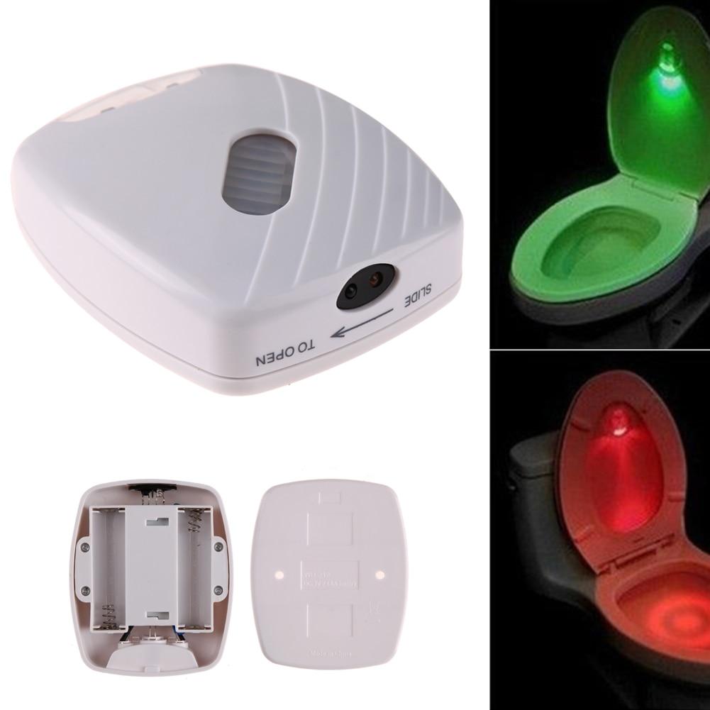 ห้องน้ำไฟ LED Motion Sensor เปิดใช้งานห้องน้ำโคมไฟคืนโถชักโครกแสงตรวจจับไฟกลางคืนอัตโนมัติ