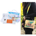 Designer Hologram Transparent brief style Women messenger bag Purse Shoulder bag