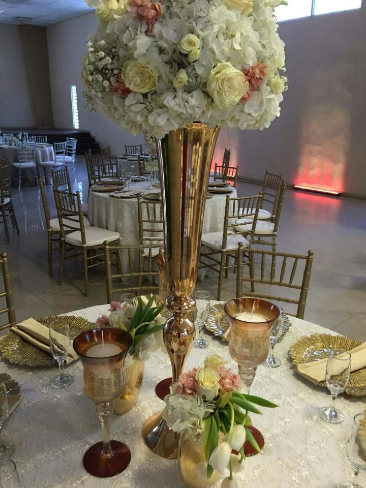 Top rated cm quot gold wedding flower vases table
