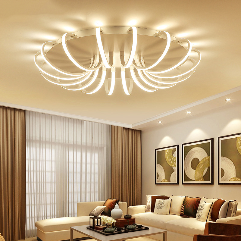 Lican Aluminum Round Modern Led Ceiling Chandelier Light For Living Room Bedroom Black Or White Dec Ac85 265v Ivanovonews