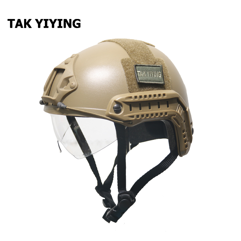 TAK YIYING Tactical Helmet MH Type Airsoft Paintball Helmet with Protect Goggles