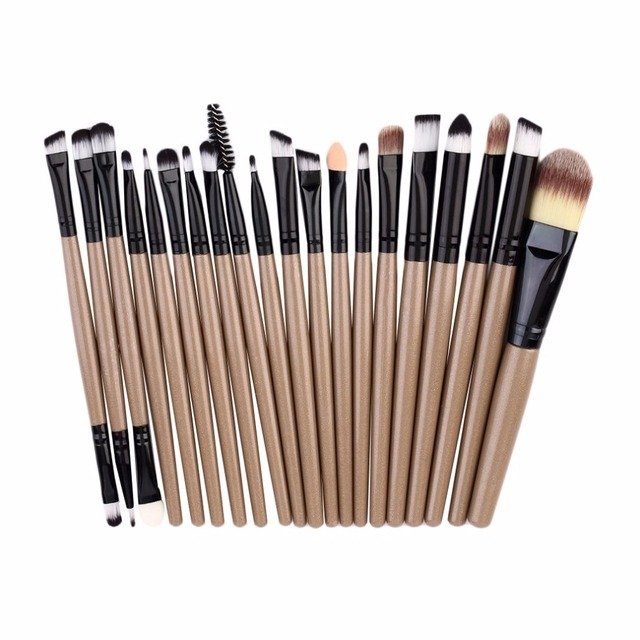 20pcs/set Makeup Brushes Pro Blending Eyeshadow Powder Foundation Eyes Eyebrow Lip Eyeliner Make up Brush Cosmetic Tool 1