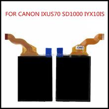 Новый ЖК-дисплей Экран дисплея для Canon IXUS70 IXUS 70 SD1000 IXY10 PC1228 цифровой Камера Ремонт Часть Нет Подсветка