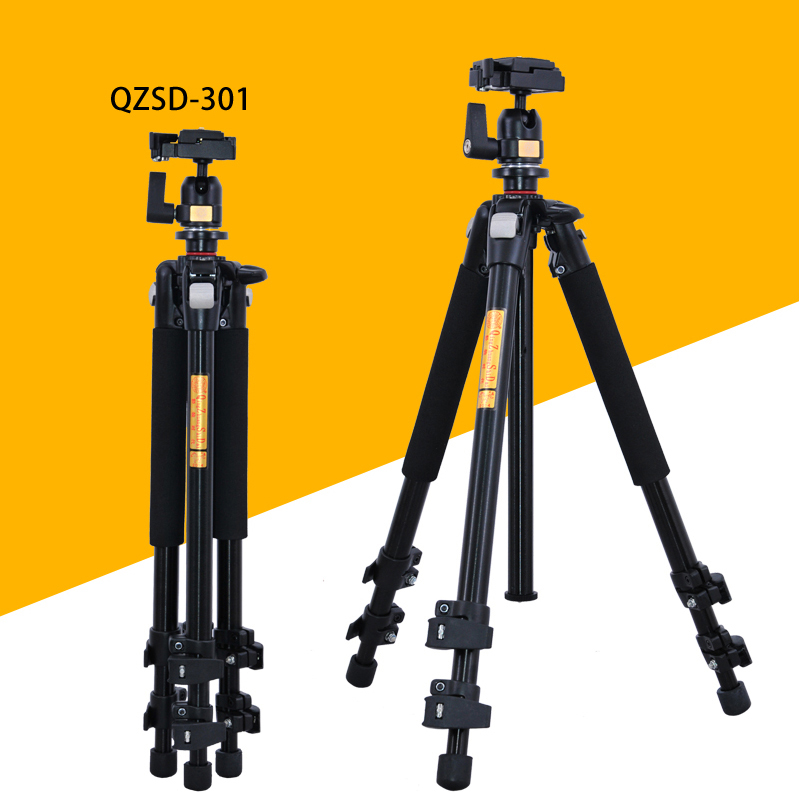 Pro QZSD Q301 Professional Tripod  For SLR Cameras Photographic Ball Head Action Camera Stand Accessories Tripode Trepied Photo