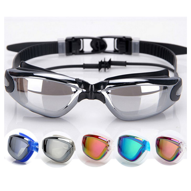 Gojoy Professional Swimming goggles with earplug adult silicon Swim glasses anti fog swimming eyewear Summer water glasses