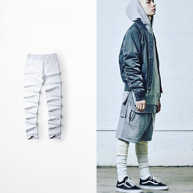 TEMOR DE DEUS verão calça casual High Street leggings grandes estaleiros RO rosca material Qiuku homens e mulheres NEVOEIRO
