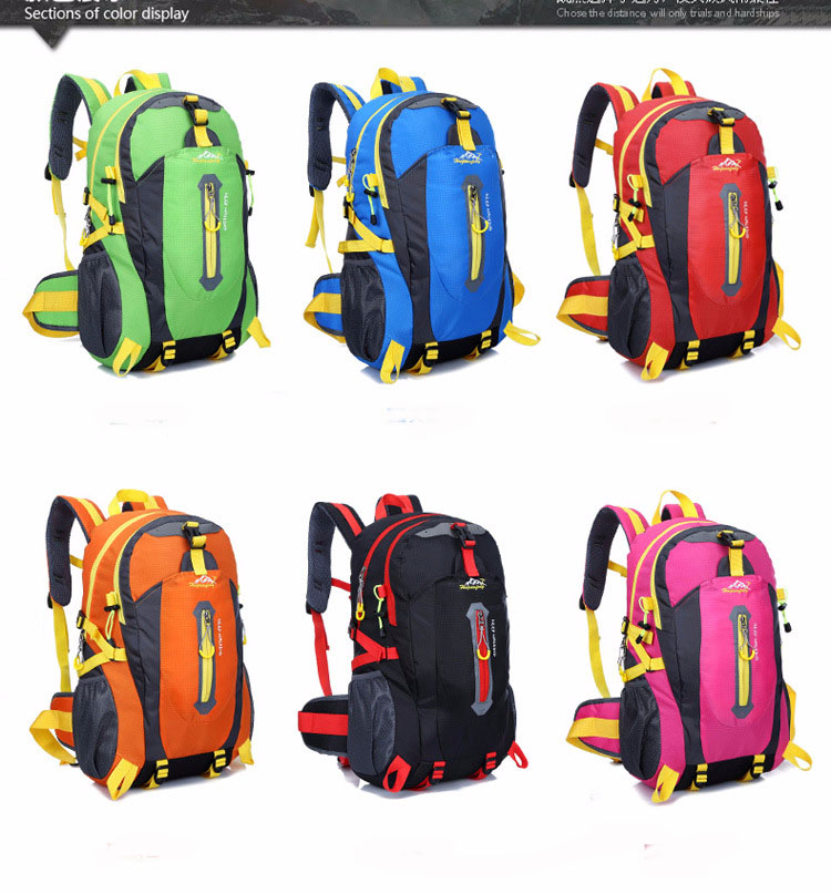 Climbing Backpack Rucksack Waterproof 40L Outdoor Sports Bag Travel Backpack