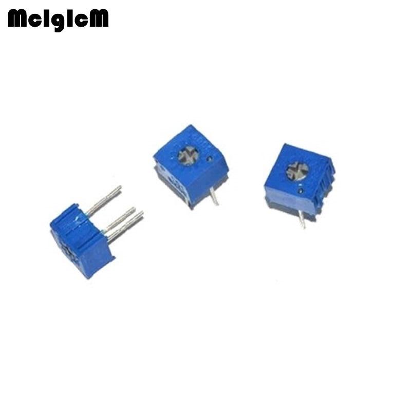 MCIGICM 1000pcs 3362P 103 Trimpot Trimmer Potentiometer 100 200 500 1K 2K 5K 10K 20K 50K 100K 200K 500K 1M ohm Variable resistor-in Potentiometers from Electronic Components & Supplies