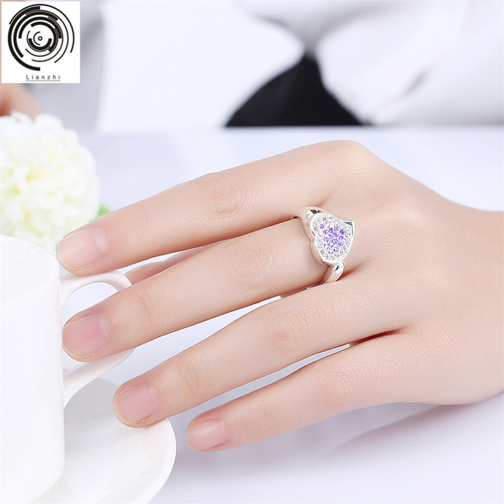 Lianzhi The latest vogue romantic wedding silver purple red heart ...
