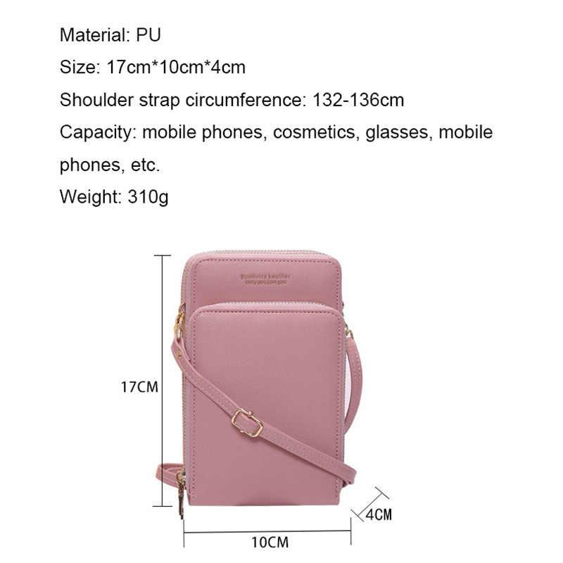 多機能小型のショルダーバッグカード携帯電話ポケット Pu レザーレディースクロスボディ財布女性メッセンジャーバッグ