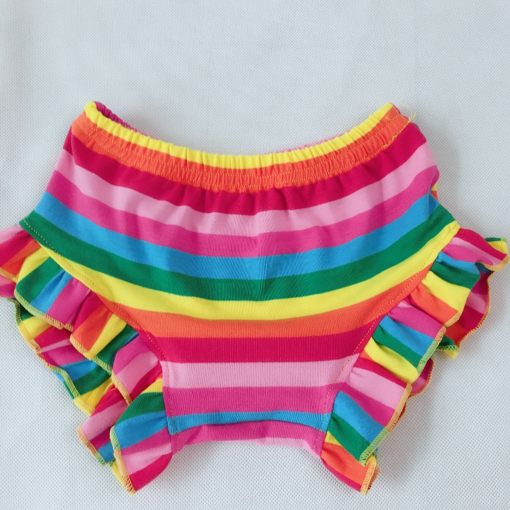 Energisch Neue Bunte Streifen Muster Rüschen Kinder Heißer Verkauf Kinder Mode Baumwolle Shorts Ausgezeichnet Im Kisseneffekt
