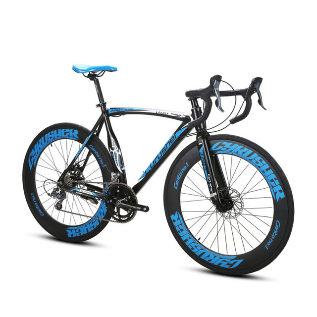 Cyrusher XC700 гоночный шоссейный велосипед 700Cx54cm легкая алюминиевая рама 16 скоростей Pro Спорт Ман дорожный велосипед двойной механический дисковый тормоз