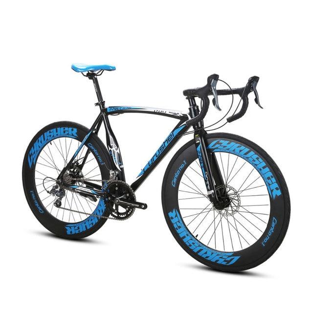 Cyrusher XC700 Road Racing Bike 700Cx54cm свет Алюминий Frame 16 скоростей Pro спортивные Ман дорожный велосипед двойной механические дисковые тормоза