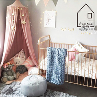 240cm Height Natural Cotton Kids Play Tent Mosquito Net Bedroom Decor Children Room Decoration Playing Tents Indoor Round Top