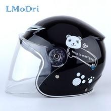 LMoDri Motorcycle Sports Craniacea Cycling Kids Helmet Children Full Face