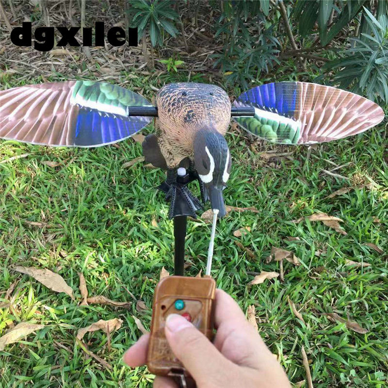 Xilei Outdoor Hunting Plastic Blue Wing Teal Duck Decoys 6V Plastic Motor Duck Goods For Hunting