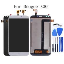 ل Doogee X30 الأصلي شاشات كريستال بلورية محول الأرقام بشاشة تعمل بلمس مكون ل Doogee X30 الهاتف المحمول أجزاء شاشة LCD أداة مجانية
