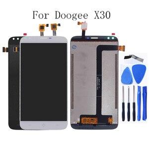 Image 1 - Для Doogee X30 Оригинальный ЖК монитор Сенсорный экран дигитайзер компонент Для Doogee X30 Запчасти для мобильного телефона ЖК экран бесплатный инструмент