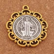 Медальон Святого Бенедикта из цинкового сплава и разделительных