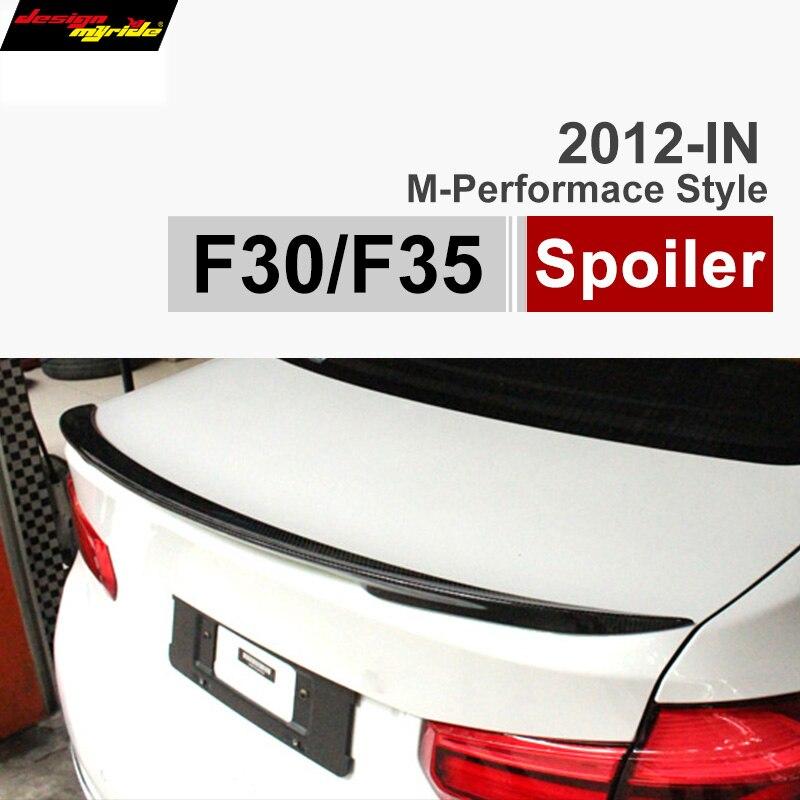 2012 - 2016 F30 m performance style carbon fiber trunk spoiler for BMW 3 Series F30 316i 318i 320i 328i 335i F80 M3 car styling